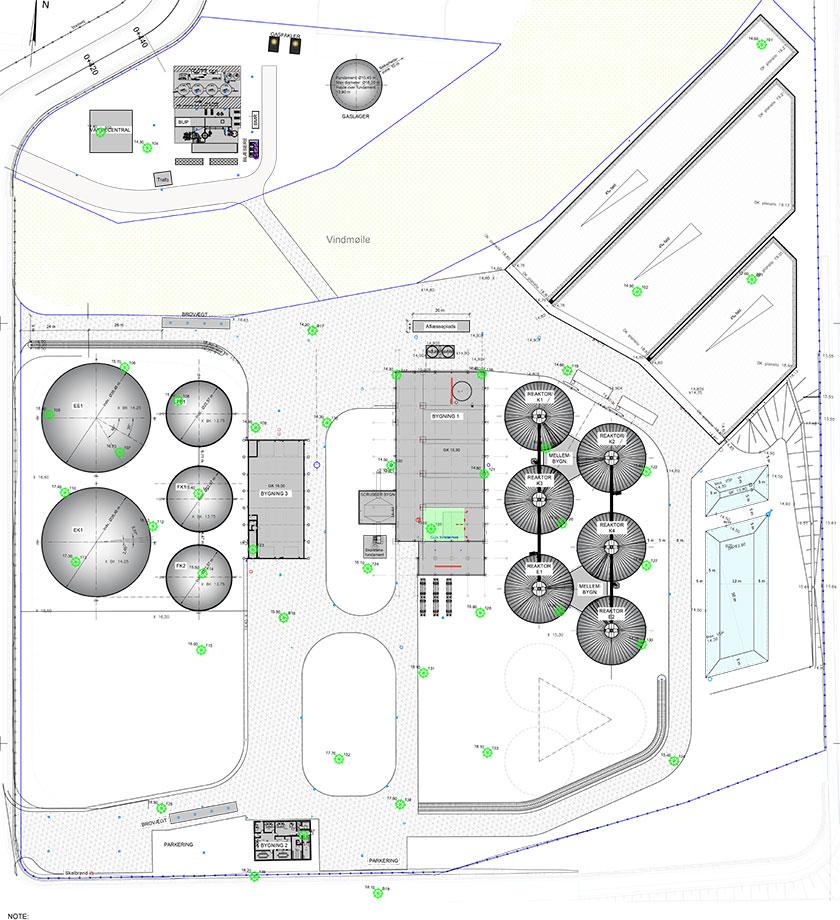 Oversigtsplan - GreenLab Skive Biogas